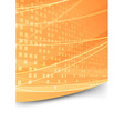 Square abstract folder orange template vector