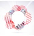 Modernistic circle bright retro design element vector