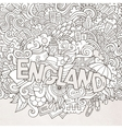 England hand lettering and doodles elements vector