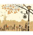 Fall city vector