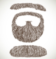 Lush retro mustache and beard vector