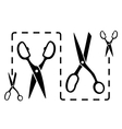 Dotted line with scissors cut vector