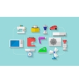 Flat icons for household appliances vector