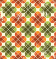 Vintage floral seamless pattern bright geometric vector
