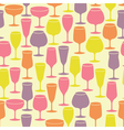 Seamless background with wine glasses vector
