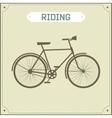 Vintage bike retro vector