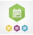 Calendar organizer flat icon vector