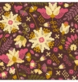 Decorative floral background with flowers vector