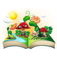 Mushroom house book vector