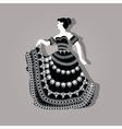 Vintage elegant woman vector