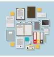 Flat icons for business workflow vector