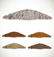 Mustache groomed in several colors set1 vector