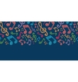 Colorful musical notes seamless pattern background vector