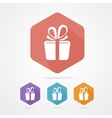 Gift box sign icon present vector