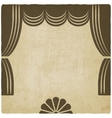 Theater stage with curtains old background vector