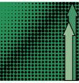 Green background from black dots vector