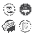 Set of vintage logos labels and badges cleaning vector