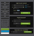 Web design elements set black2 vector