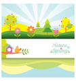 Spring season object icons banner and background vector