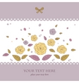 Beautiful card with flowers vector