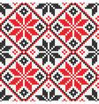 Ukrainian ornament knitting seamless texture vector