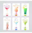 Set of cocktail banners vector