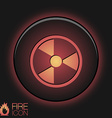 Symbol of nuclear danger vector