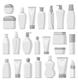 Cosmetic monochrome vector