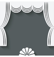Theater stage with curtains vector
