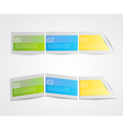 Set of colorful labels vector