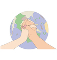 A gesture of peace vector