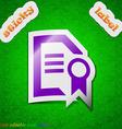 Award file document icon sign symbol chic colored vector