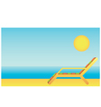 Beach chaise lounges vector