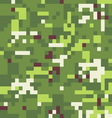 Camouflage military background in pixel style vector
