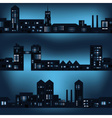 Dark city landscapes in night with lights eps10 vector