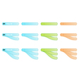 Set of three color of labels vector