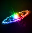Ring multicolored lightening on dark background vector