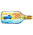 A bottle with a summer template vector