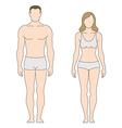 Figure man woman vector