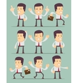 Businessman in motion on background collection vector