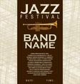 Jazz festival background vector