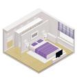 Isometric bedroom icon vector