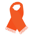 Orange winter scarf vector