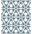 Geometric abstract flowers monochrome seamless vector
