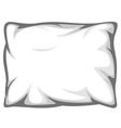 White pillow vector