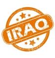 Iraq grunge icon vector