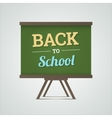 Back to school on green board vector