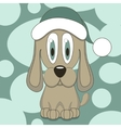 Funny dog in hat vector