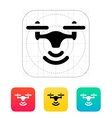 Wireless quadcopter icon vector