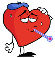 Heart sick with ice pack vector